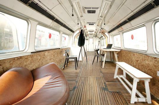 영국 런던의 버려진 지하철 재활용