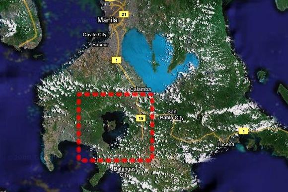 필리핀의 타알(Taal) 호수