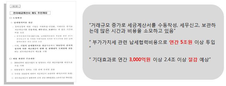 [전자세금계산서 제도 추진개요]
