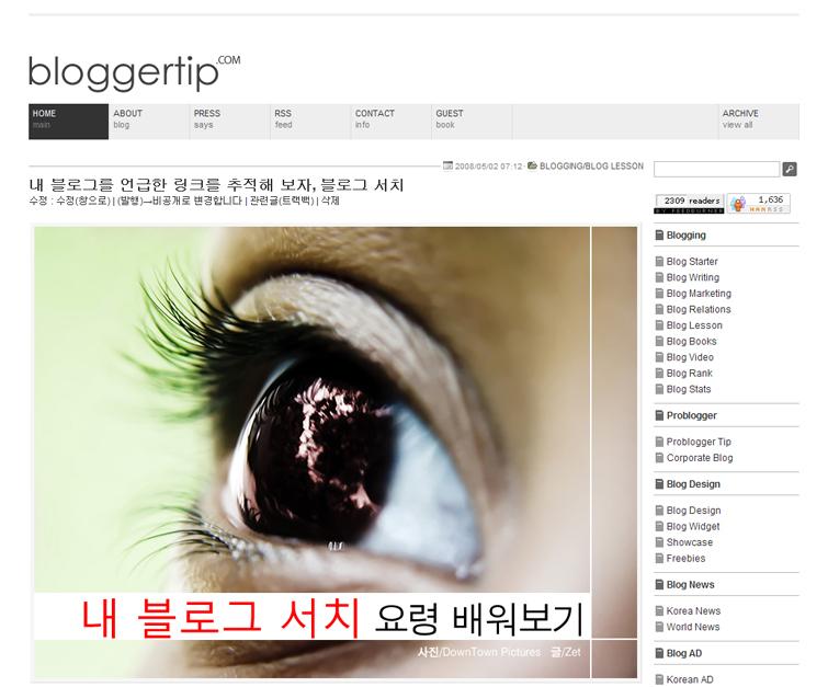 블로그 전문 검색엔진