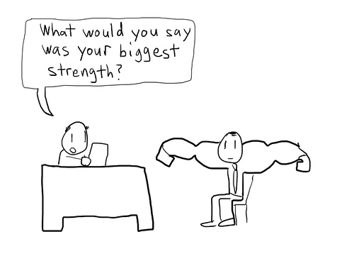 job interview strength