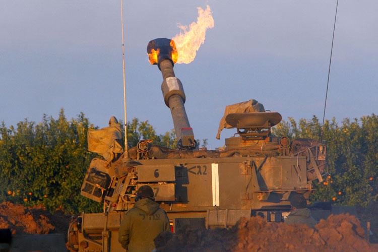 이스라엘 무차별 포격과 지상군 투입