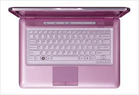 소니 바이오 VGN-CS16 럭셔리 핑크! 여자라면 갖고 싶은 노트북