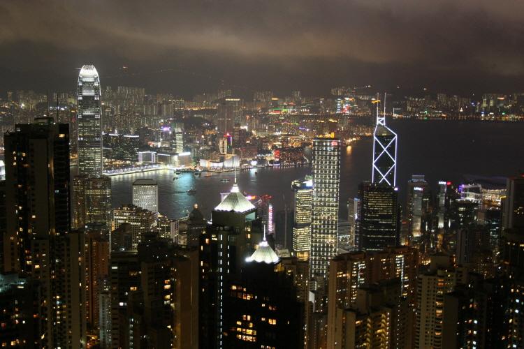 빅토리아 피크에서 보는 홍콩의 야경
