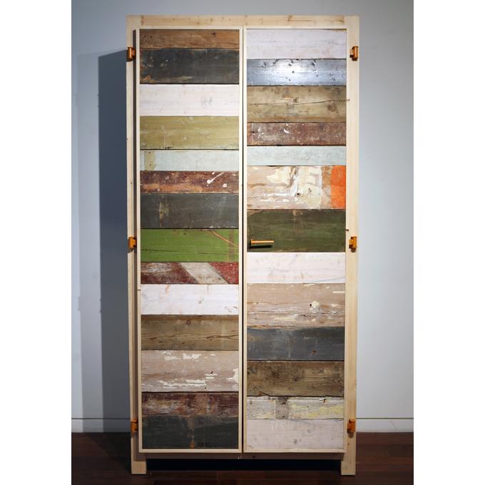 scrap wood cupboard 2 doors