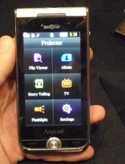 Samsung Pico Projector Phone
