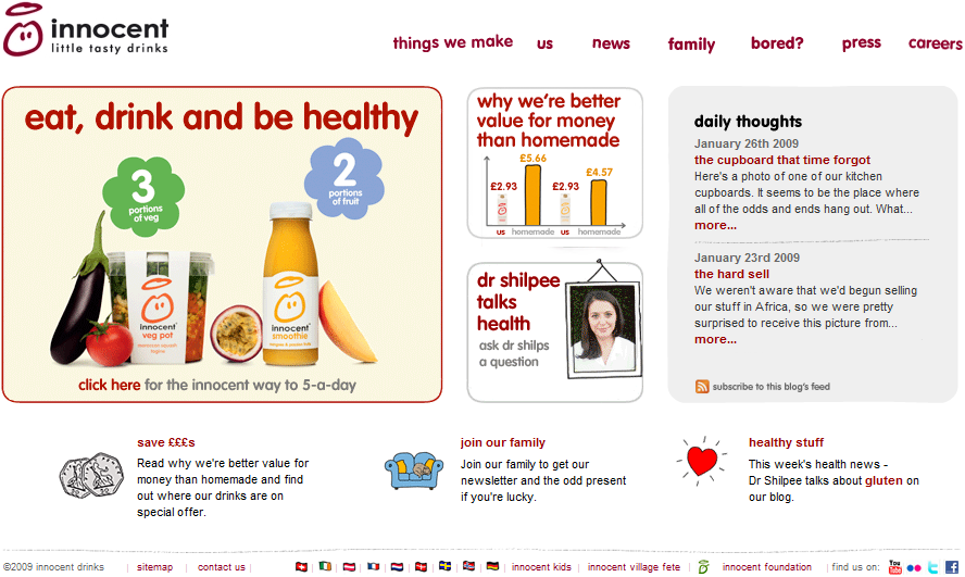 Innocent Drinks: Website.