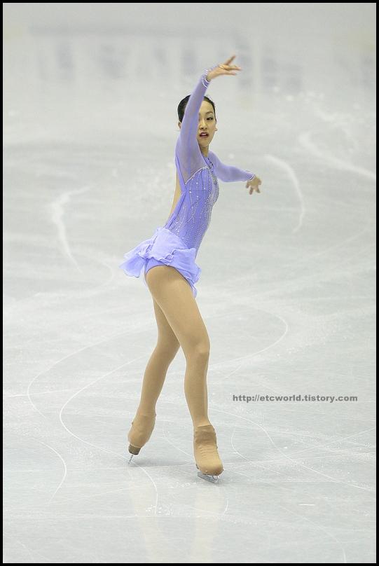 2008/2009 SBS ISU 고양피겨스케이팅 그랑프리 파이널 시니어 여자 싱글 쇼트 프로그램 연기를 펼치는 일본의 Mao ASADA (아사다 마오)